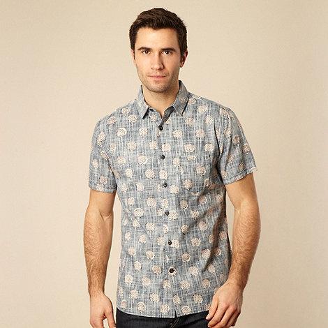 RJR.John Rocha - Blue reverse printed dandelion shirt