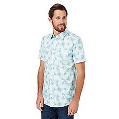 RJR.John Rocha - Light blue textured palm leaf shirt