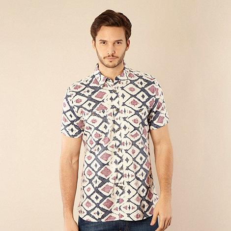 RJR.John Rocha - Designer navy tribal reverse printed shirt