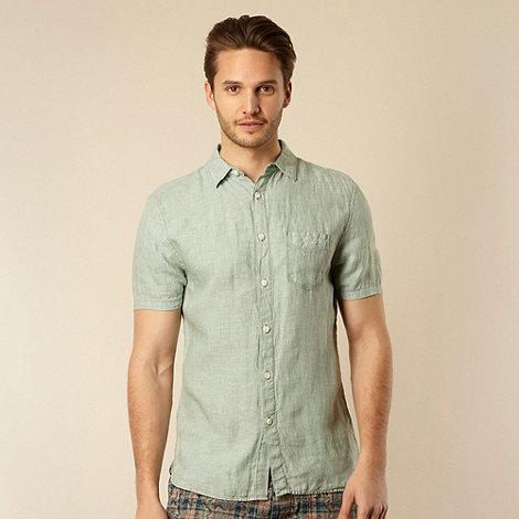 RJR.John Rocha - Designer pale green plain linen shirt