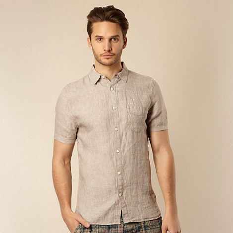 RJR.John Rocha - Big and tall designer natural plain linen shirt