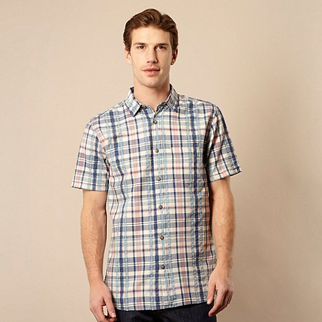 RJR.John Rocha - Big and tall designer blue seersucker checked shirt