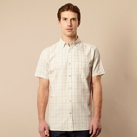 RJR.John Rocha - Big and tall designer natural textured grid checked shirt