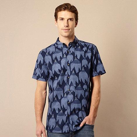 RJR.John Rocha - Designer navy print shirt
