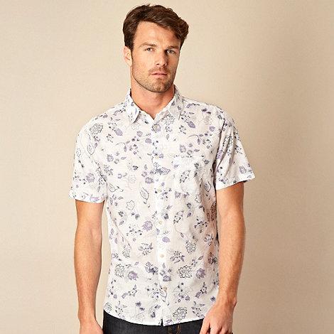 RJR.John Rocha - Designer mauve reverse printed floral shirt