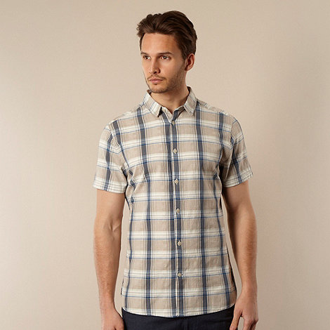 RJR.John Rocha - Big and tall designer natural textured checked shirt