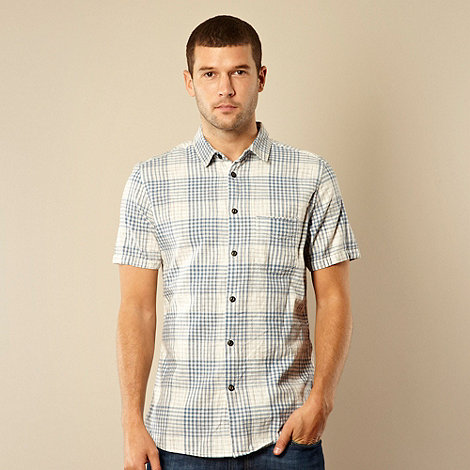 RJR.John Rocha - Big and tall designer pale blue space dye checked shirt