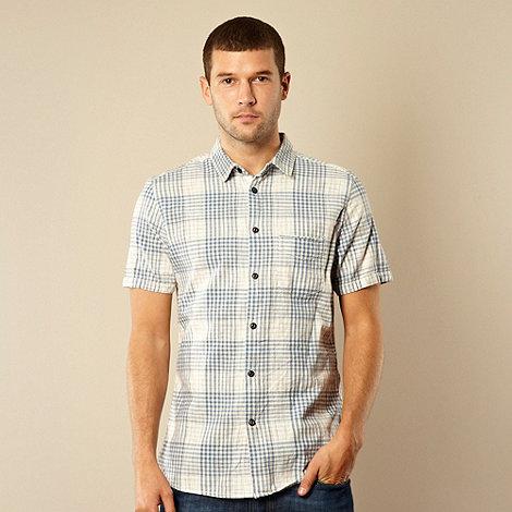 RJR.John Rocha - Designer pale blue space dye checked shirt