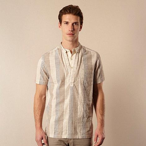 RJR.John Rocha - Designer brown striped space dyed shirt