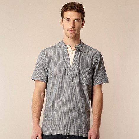 RJR.John Rocha - Designer navy dotted chambray shirt