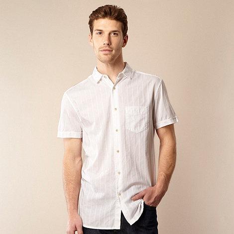 RJR.John Rocha - Designer white textured striped shirt