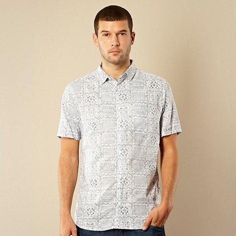 RJR.John Rocha - Big and tall designer white grid print shirt