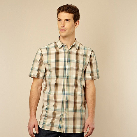 RJR.John Rocha - Designer green tonal checked shirt