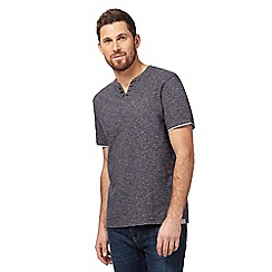 RJR.John Rocha - Navy striped notch neck t-shirt