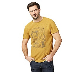 RJR.John Rocha - Big and tall dark yellow printed t-shirt