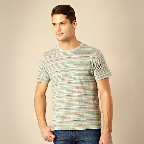 RJR.John Rocha - Designer light grey striped fleck t-shirt