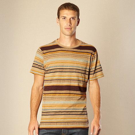 RJR.John Rocha - Designer gold textured striped t-shirt