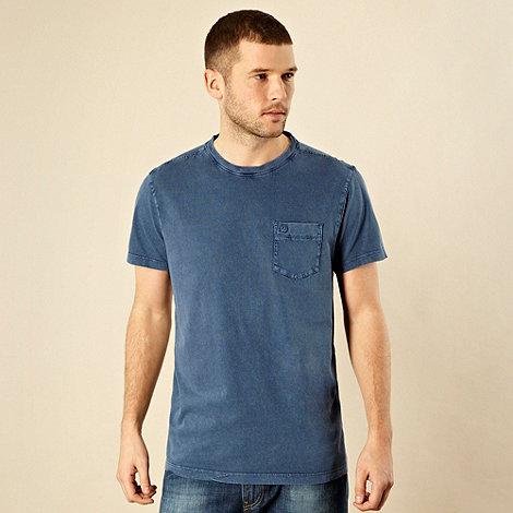RJR.John Rocha - Designer blue pocket crew neck t-shirt
