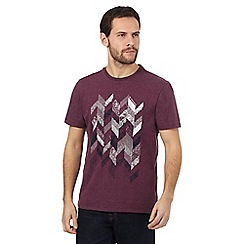RJR.John Rocha - Dark red chevron printed t-shirt