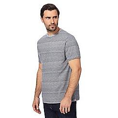 RJR.John Rocha - Dark blue narrow striped t-shirt