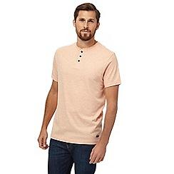 RJR.John Rocha - Big and tall dark orange grandad t-shirt