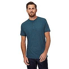 RJR.John Rocha - Dark turquoise grandad t-shirt