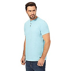 RJR.John Rocha - Light turquoise  grandad t-shirt