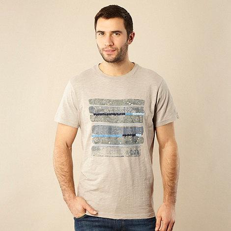RJR.John Rocha - Designer light grey mosaic printed t-shirt