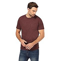 RJR.John Rocha - Big and tall red grindle crew neck t-shirt
