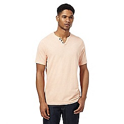 RJR.John Rocha - Orange grindle button detail t-shirt