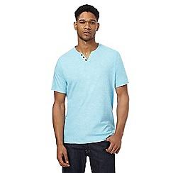 RJR.John Rocha - Blue grindle button detail t-shirt