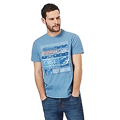RJR.John Rocha - Big and tall blue printed t-shirt