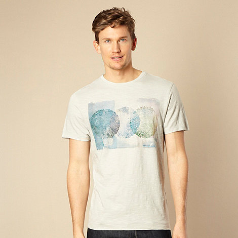 RJR.John Rocha - Designer light grey watermark circle printed t-shirt