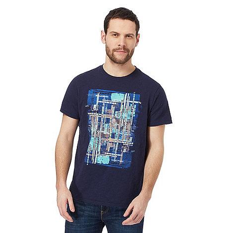 RJR.John Rocha - Navy brushstroke t-shirt