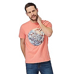 RJR.John Rocha - Orange Japanese marble print t-shirt