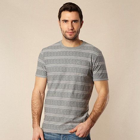 RJR.John Rocha - Designer light green textured striped t-shirt