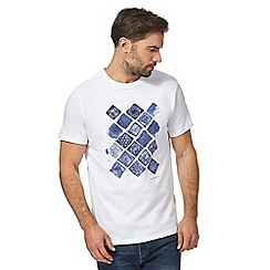 RJR.John Rocha - Big and tall white mosaic tiles print t-shirt