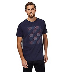 RJR.John Rocha - Navy circle sketch print t-shirt
