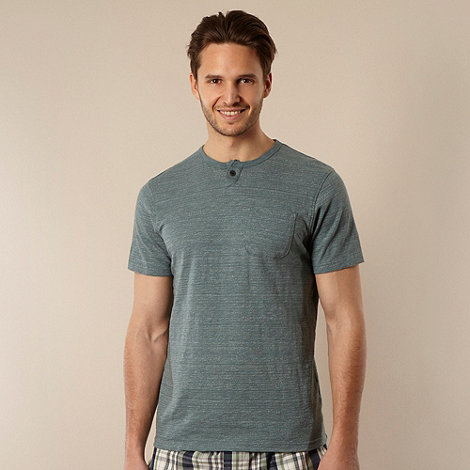 RJR.John Rocha - Designer pale green faded striped t-shirt