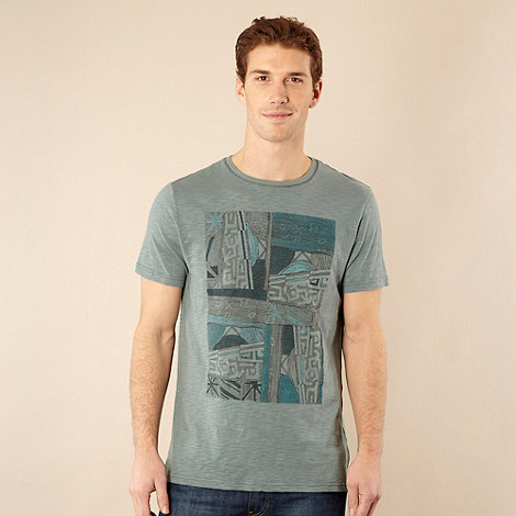 RJR.John Rocha - Designer light turquoise tribal t-shirt