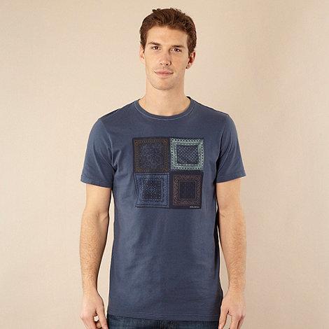 RJR.John Rocha - Designer dark blue handkerchief motif t-shirt
