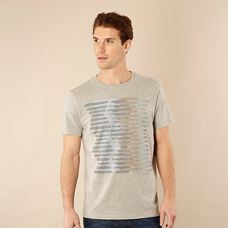 RJR.John Rocha - Designer light grey paint striped t-shirt