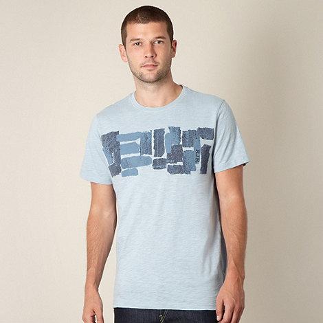 RJR.John Rocha - Big and tall designer light blue ikat printed t-shirt