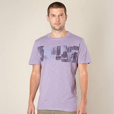 RJR.John Rocha - Big and tall designer lilac ikat printed t-shirt