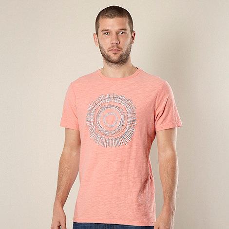 RJR.John Rocha - Designer peach circle patterned t-shirt