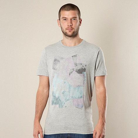 RJR.John Rocha - Designer light grey embroidered squares t-shirt