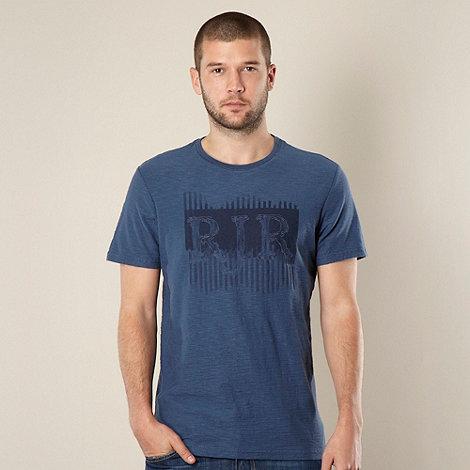RJR.John Rocha - Designer dark blue printed logo t-shirt