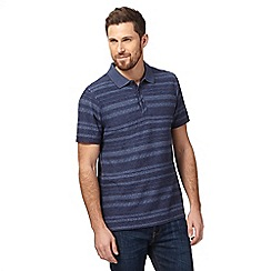 RJR.John Rocha - Big and tall blue textured stripe polo shirt