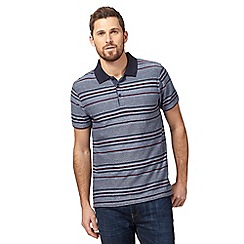 RJR.John Rocha - Big and tall blue textured variegated striped polo shirt