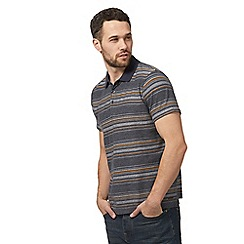 RJR.John Rocha - Big and tall grey textured striped polo shirt